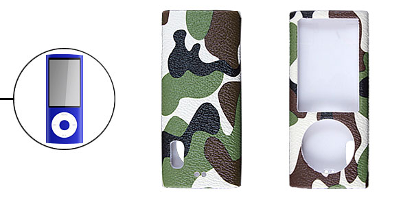 Faux Leather Coated Camouflage Pattern Plastic Case for iPod Nano 5