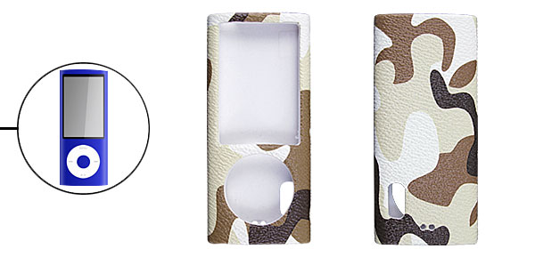 Camouflage Pattern Faux Leather Coated Case for iPod Nano 5 5G