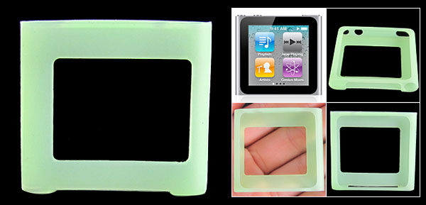 Green Silicone Skin Slim Case Cover for iPod Nano 6
