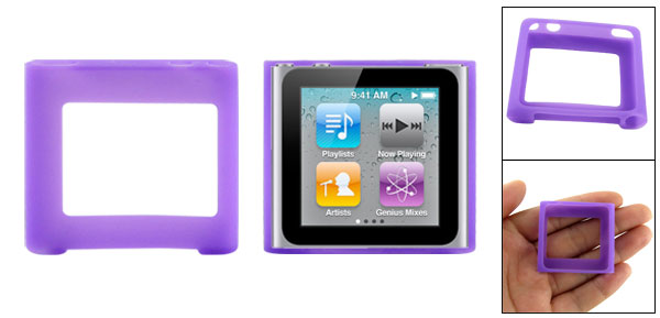 Silicone Skin Case Cover for iPod Nano 6G Gen Purple