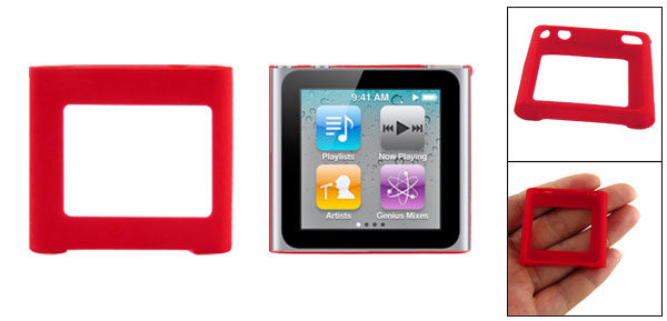 Silicone Skin Case Red Cover for iPod Nano 6G Gen