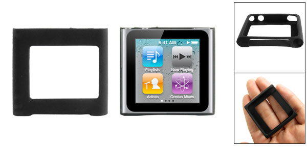 Silicone Skin Case Cover for iPod Nano 6G Gen Black