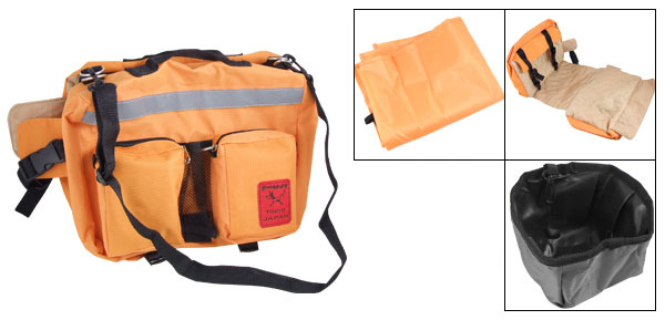 Casual Orange Pet Carrier Hiking Dog Packsack Backpack Large