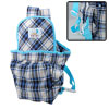 Blue Rim Design Lattice Cloth Front Baby Carrier