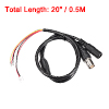 0.5M 2.1x5.5mm Female DC Power Plug BNC Jack Cable Black for CCTV...