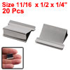 Office Stationery 20 Pieces Mini Metal Dispenser Fast Clam Clips