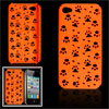 Claw Paw  Orange Plastic Back Cover for iPhone 4