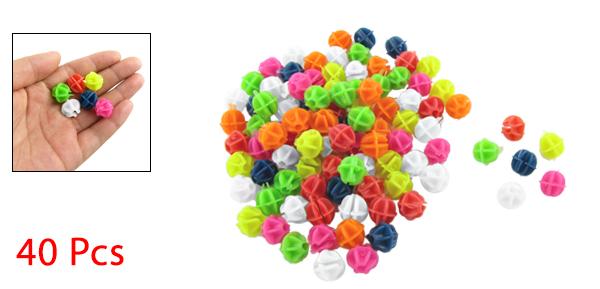 40pcs Colorful Plastic Clip Spoke Bicycle Beads Decoration