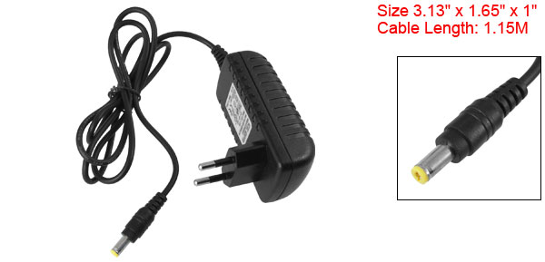 EU Plug AC 100-240V to 12V 2A CCTV Camera Power Supply Charger Adapter