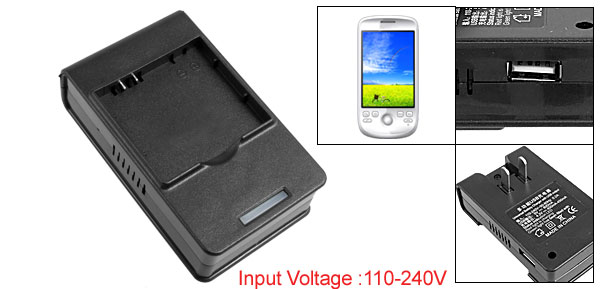 US Plug 110-240VAC USB Port Desktop Battery Charger for HTC G2