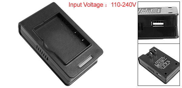 US Plug 110-240V Portable Black Battery Desktop Charger for HTC P800 838