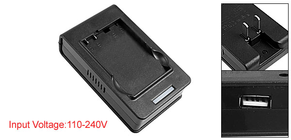 US Plug 110-240V USB Port Black AC Desktop Battery Charger for HTC C720