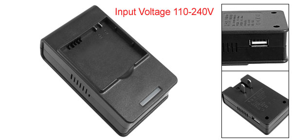 US Plug 110-240V Black Desktop Charger for HTC S900