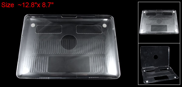 Clear Plastic Protective Case Cover for Apple MacBook 13.3
