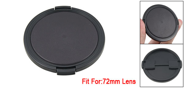 New 72mm Lens Cap Hood Cover Snap Black for SLR Camera
