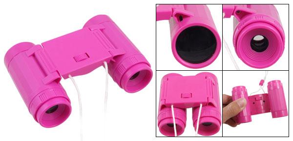 Pocket Design Fuchsia Binoculars Observing Toy 2.5X24