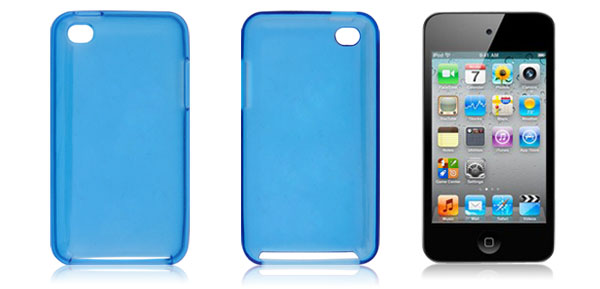 Blue Plastic Skin Back Shell Case for iPod Touch 4G