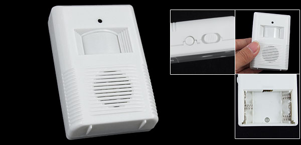 Rectangle Infrared Sensor Wht Doorbell Battery Powered