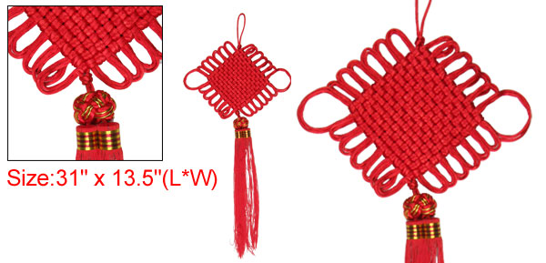 Home Decoration Handmade Dual Thread Red Chinese Knot