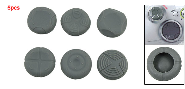 6PCS Gray Silicone Grip Case for XBOX 360 Controller