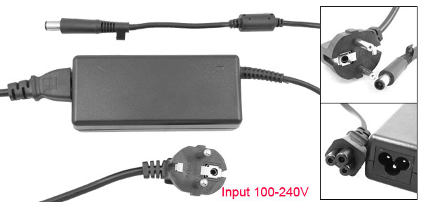 US 3 Pin Plug 100-240VAC Replacement Power Adapter for Hp NC6400 NC6230