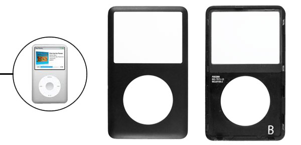 Black Hard Plastic Front Cover Panel Faceplate Housing Case Cover for iPod Classic
