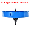 7-17/64-inch Bi-Metal Hole Saw for Corn Hole Boards Drilling Cutter Blue