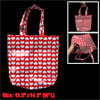 Heart Style Reusable White Red Water Resistant Shopping Bag