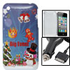 Merry Christmas Colorful Hard Back Case With Car Charger for iPho...