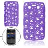 Hollow Out Design Purple Hard Back Case for Blackberry 9700