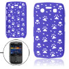 Plastic Hollow Out Blue Paw Back Case for Blackberry 9700