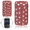Burgundy Hollow Out Paw Hole Hard Back Case Guard for Blackberry ...