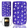 Paw Hole Design Blue Hard Plastic Back Case for Blackberry 8520