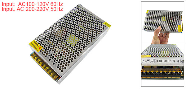 AC110/220V 5V 40A 200W Switching Power Supply Driver Adapter for LED Strip Light