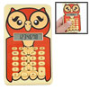 Cartoon Night Owl Design Students 8 Digits LCD Mini Calculator