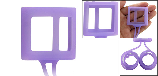Soft Silicone Necklace Design Cover Guard for iPod Nano 6 6G Purple