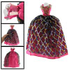 Colorful Argyle Layer Flower Bodice Fuchsia Doll Bress Clothes