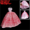 Gauze Ballgown Long Floor Length Strap Pink Red Doll Dress