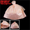 Peachpuff Strapless 2 Layered Waist Strap Ballgown Doll Dress