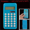 Back Maze Design White Button 8 Digits Blue Electonic Calculator
