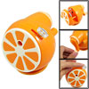Orange Manual Rotating Plastic Desktop Pencil Sharpener
