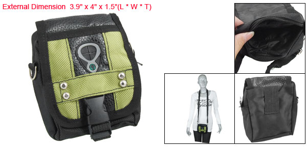 Mini Digital Camera Carrying Pouch Shoulder Bag w Strap