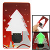 Pocket Folding Christmas Tree Card X'mas Green LED Light Ornament