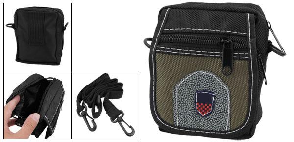 Compartments Black Nylon Bag Holder for Digital Camera