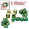 Green Gift Box Ball Drum Design X'mas Tree Ornaments Christmas De...