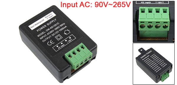 AC90-265V to DC12V 1A Universal Power Supply Adapter