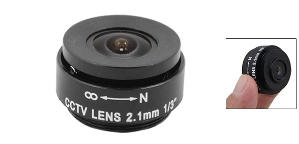 Replacement F1.2 2.1mm Fixed Iris for Security CCTV Camera Lens Black