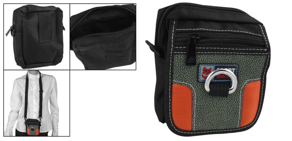 Amphibious Shoulder Waist Nylon Pouch Bag for Digital Camera