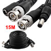15m CCTV CCD Camera Video Power Extension Cable Black w Male BNC ...