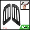 2PCS Black Universal Car Side Vent Air Flow Fender 3D Sticker Dec...